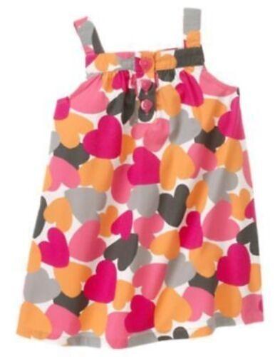 GYMBOREE PANDA ACADEMY WATERCOLOR HEARTS WOVEN JUMPER DRESS 12 18 24 2T 4T NWT
