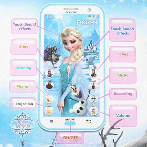 Jouet téléphone portable Disney Frozen Smartphone Learning appareil musique chanson pour enfants