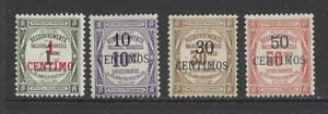 FRENCH-MOROCCO-J6-J9-MH-1909-1910-NEW-VALUE-O-P-ON-FRANCE-POSTAGE-DUES