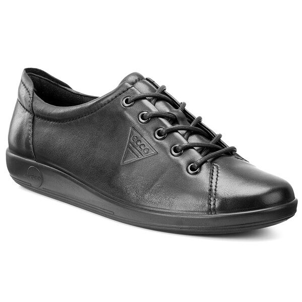 molte sorprese Ecco Soft 2.0 Ladies Ladies Ladies Scarpe da Donna in Pelle Lacci scarpe da ginnastica nero 206503-56723  grande vendita