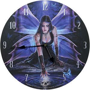 Wanduhr-Immortal-Flight-Anne-Stokes-34cm-Bilderuhr-UHR-Fantasy-Clock-Gothic-NEU