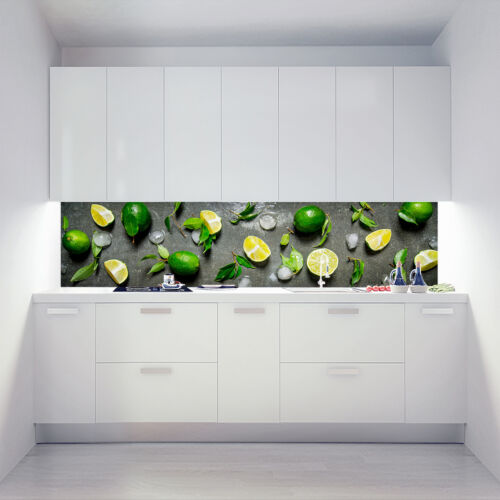 Kitchen Retro Wall Acrylic Glass Cooker Splash Guard chilled Limes