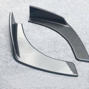 2X-Winglet-Type-Style-Carbon-Fiber-Front-Bumper-Lip-Diffuser-Splitters-Canard