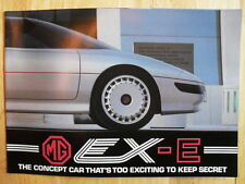 MG EX-E Concept Car Original 1985 UK Mkt Factory Promotional Brochure - MGF