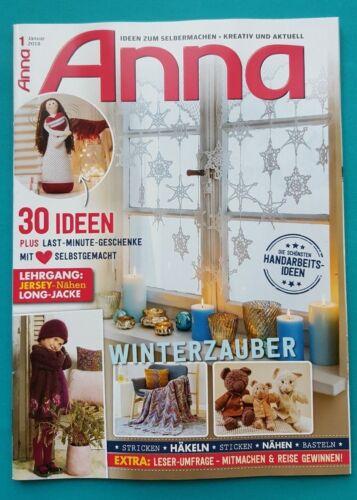 Anna enero de 2018 tejer ganchillos bordar coser bricolaje no leído 1a ABS top