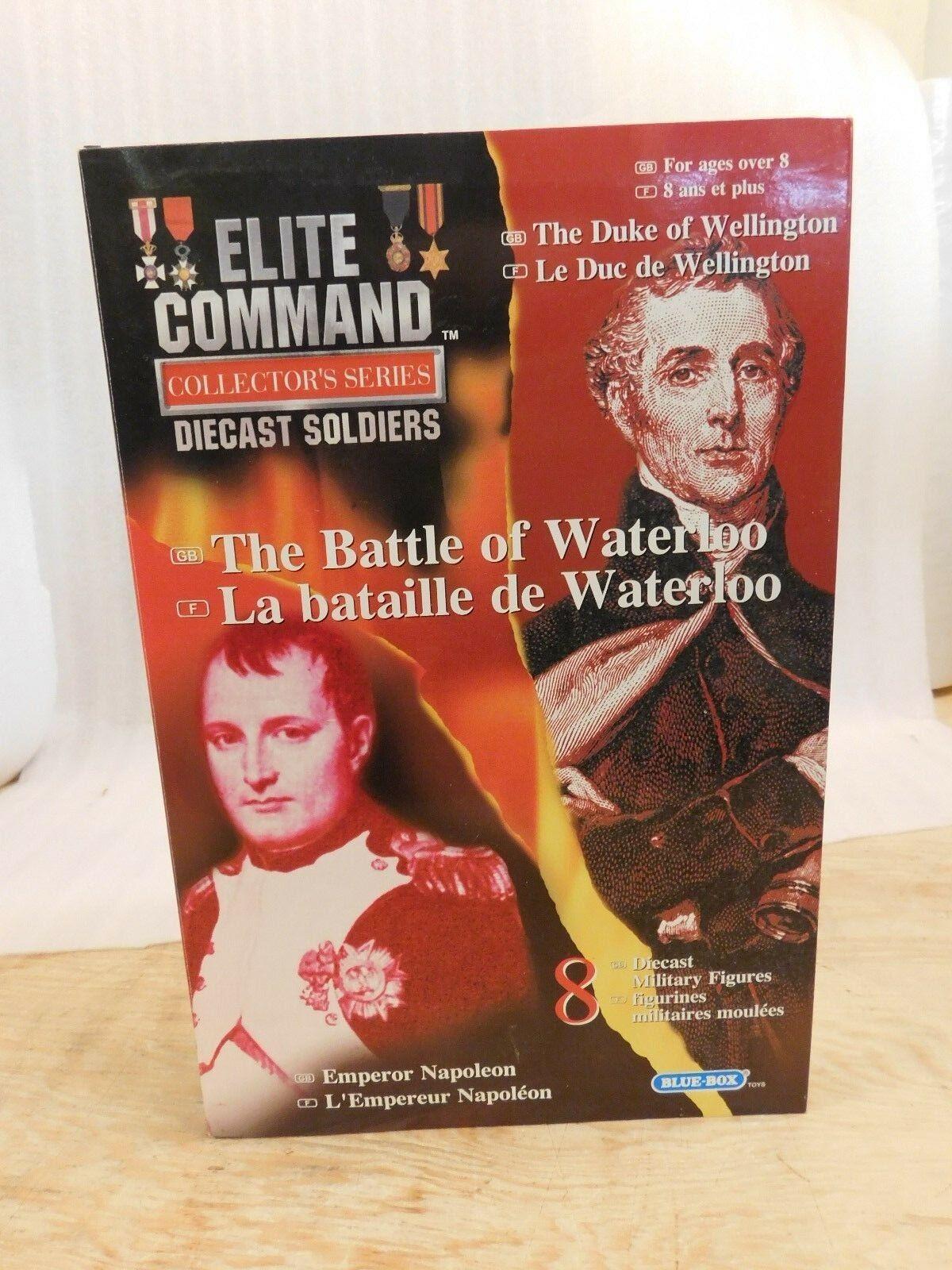 bluee Box Elite Command Die Cast Soldiers MIB The Battle of Waterloo