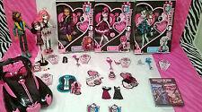 Lot of 6 Monster High Sweet 1600 doll Draculaura Clawd Frankie Clawdeen CA Cupid