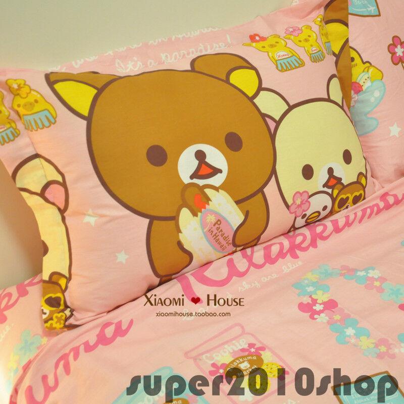 Fashion San-x RILAKKUMA Bear BED SHEET Cotton Bed Sheet SET Bithday 100% cotton