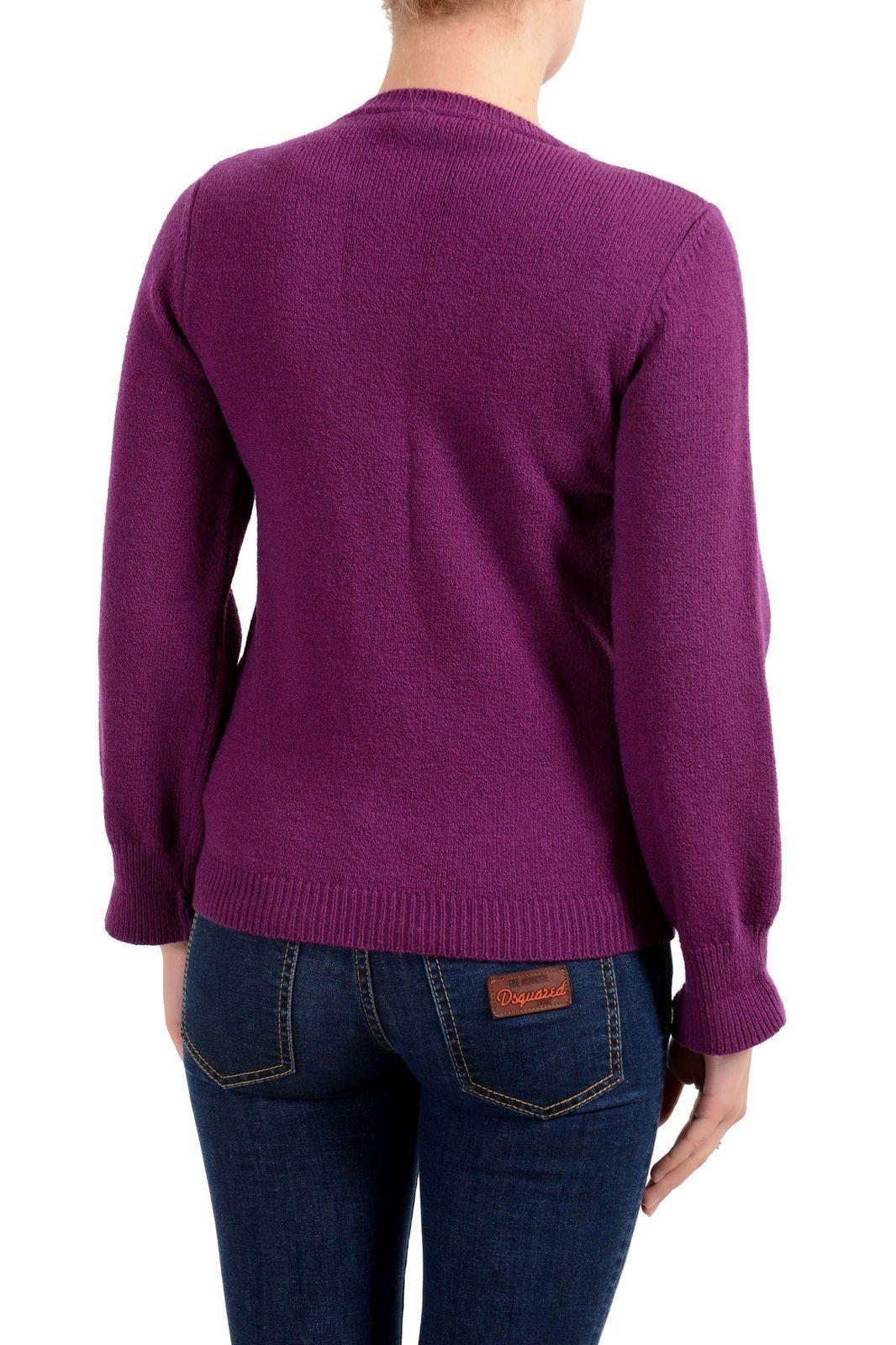 Dsquared2 Women's Women's Women's Wool Purple Full Zip Sweater US S IT 40 bcaf38