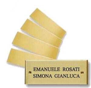 Targhetta Cassetta Postale.Dettagli Su Targhetta Ottone 6x2cm Uffici Portoni Cassetta Postale Premiazioni Incisione