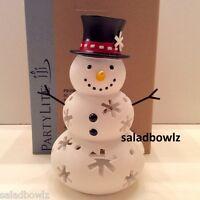 Partylite Mr Snow Tealight Holder Snow Family Freeship P91250 Shipsworldwide