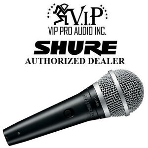 Details about Shure PGA48-QTR Dynamic Vocal Microphone Mic, On-Off Switch  w/ XLR to 1/4