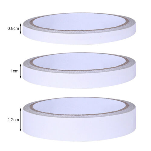 DOUBLE SIDED CLEAR STICKY TAPE Xmas GIFT DIY STRONG CRAFT ADHESIVE 8MM 10MM 12MM