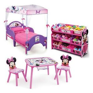 Minnie Mouse 3 Piece Toddler Canopy Bedroom Set Bed ...
