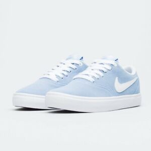 Da-Donna-Nike-SB-Check-Solar-UK-8-5-9-ALLUMINIO-BLU-BIANCO-BQ3240-400