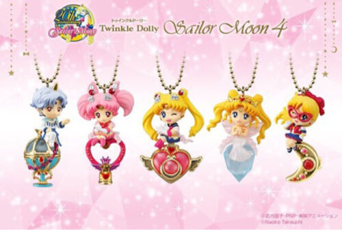 Sailor Moon Twinkle Dolly Part 4 Mini figures Complete Set 5 Bandai Candy Toy