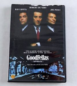 Goodfellas DVD Movie Ray Liotta Robert De Niro Joe Pesci ...