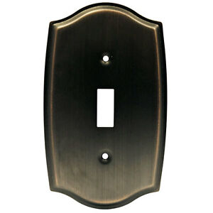 Oil Rubbed Bronze Single Toggle Switch Wall Plate Ebay
