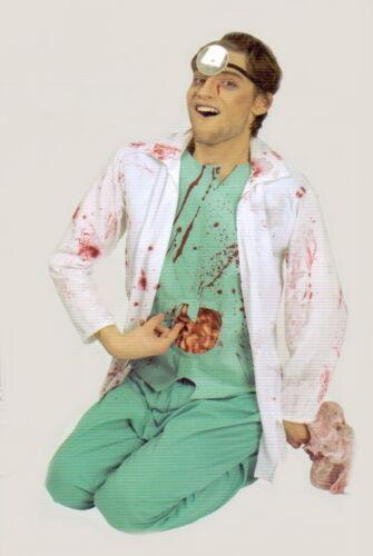 Horror-Costume Zombie-chirurgo medico dottore camice interiora sangue 46-48-50-52-56