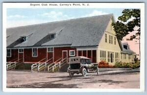 1920's DuPONT CLUB HOUSE*CARNEY'S POINT NEW JERSEY*NJ*OLD CAR*ANTIQUE POSTCARD
