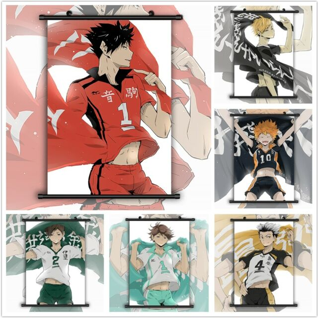 Haikyuu!! Banner Flag Anime Manga Wall Poster Scroll