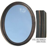 Bathroom Mirror Vanity Oval Framed Wall Mirror, Oil Rubbed Bronze on sale