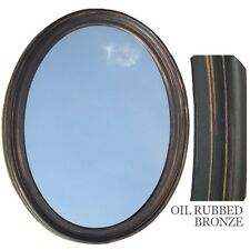 Style Selections 72465 Oil Rubbed Bronze Round Framed Wall Mirror Ebay