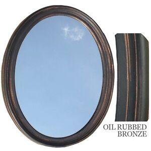 bathroom mirror vanity oval framed wall mirror oil rubbed bronze ebay