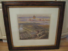 TROWBRIDGE Framed JOHANNES KIP Engraving Print KINGSWESTON Seat Edward Southwell