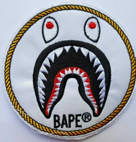 Bape Shark Patch Embroidered Patch To Customize Your Garments To Sew