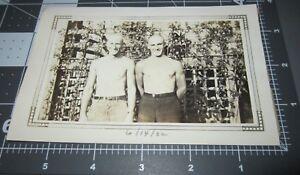 1930s Young Men Hunks Bulging Swim Suit Beach Muscular