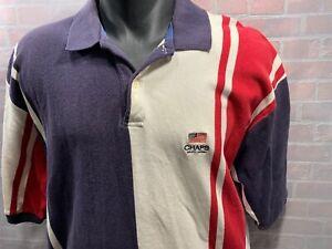 6909fcbdbb38 Image is loading CHAPS-Ralph-Lauren-Stripe-American-Flag-Polo-Shirt-