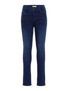 NAME-IT-extra-schmale-Jeans-Hose-NKMTheo-DNMZac-dunkelblau-Groesse-116-bis-164