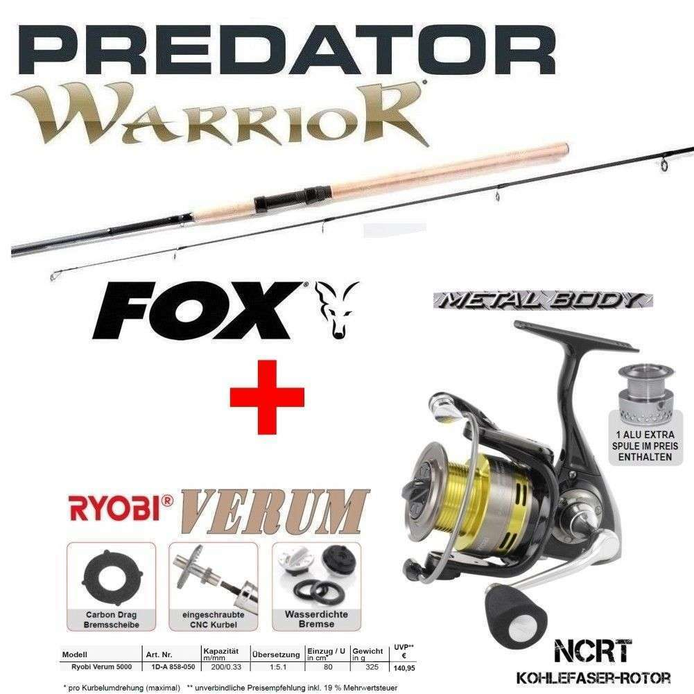 Fox WARRIOR Spin 2,40m Fox Wg  20-80G + RYOBI VERUM 5000