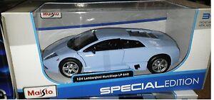 Lamborghini-Murcielago-LP-640-Diecast-Car-1-24-Maisto-7-75-inch-Baby-Blue