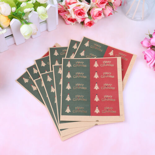 100Pcs Merry Christmas package Seal Sticker Christmas Tree Gift Label Sticker  X