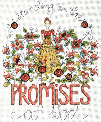 Cross Stitch Kit ~ Design Works Promises of God Inspirational Saying #DW2796