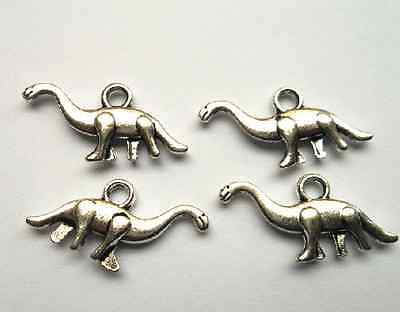 wholesale 20pcs  Tibetan silver alloy dinosaur models  charm pendant 13.5x27mm