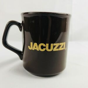 Jacuzzi-Brothers-Vintage-Coffee-Mug-Brown-D-Handle-Logo-Made-In-England