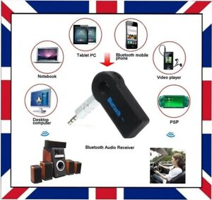 Wireless Car & TV Bluetooth Receiver Adapter 3.5mm Audio Stereo Music Handsfree