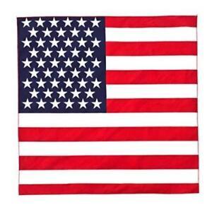 Usa Amérique Drapeau Bandana Head Wear American Foulard Cou Enveloppement Uk 100% Coton-afficher Le Titre D'origine