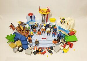 Playmobil Bundle 4858 Swimming Pool 21 People Figures Dragon Iceberg Workers Ebay