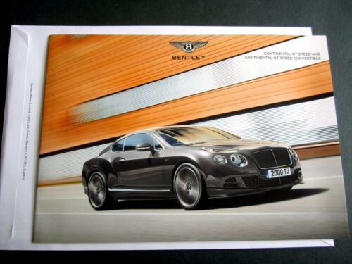 Bentley Continental GT Speed 2014 ORIGINALE UK Opuscolo W12 /& Cabrio