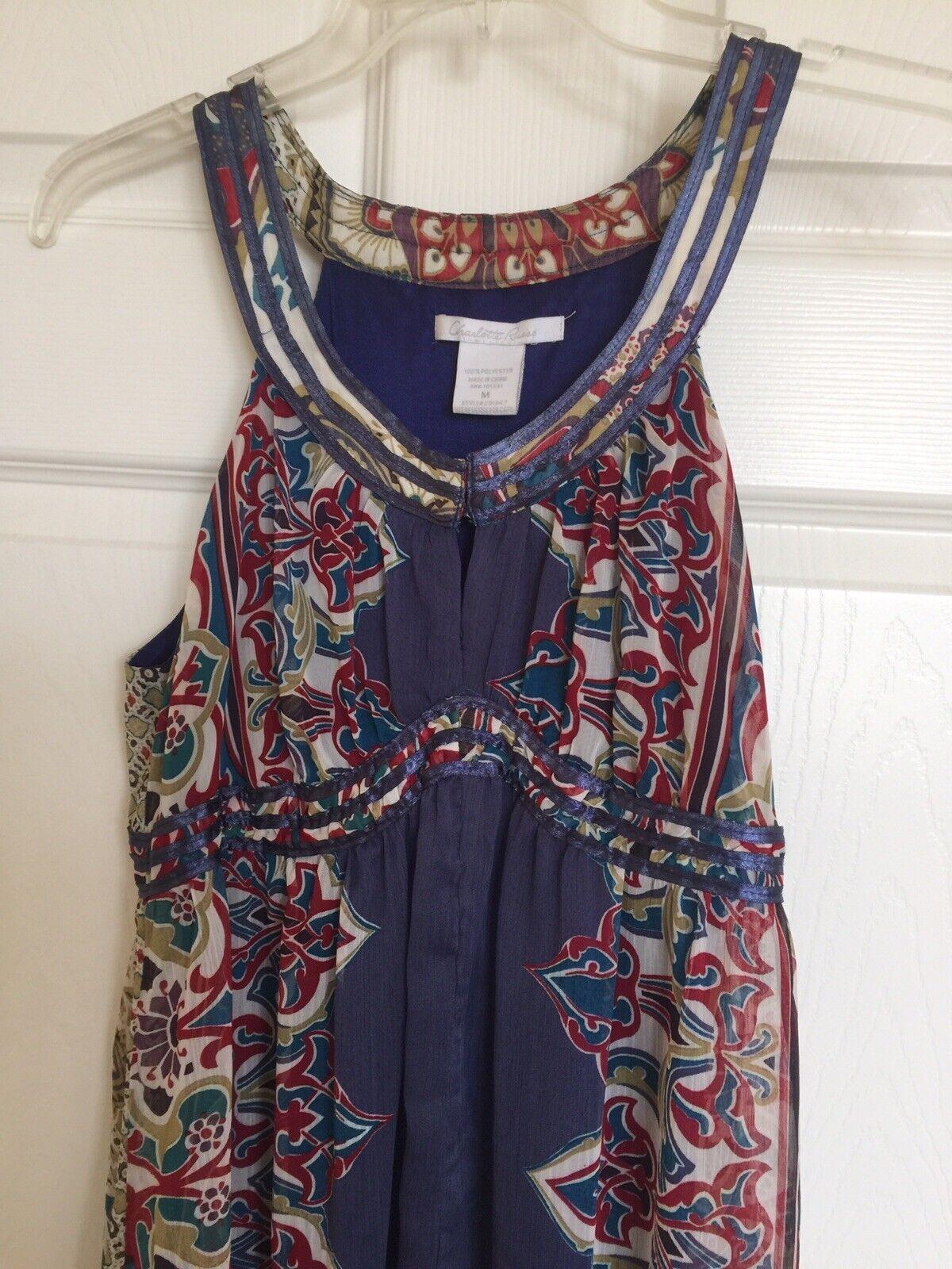 Women boho sleveless full lenght dress - image 1