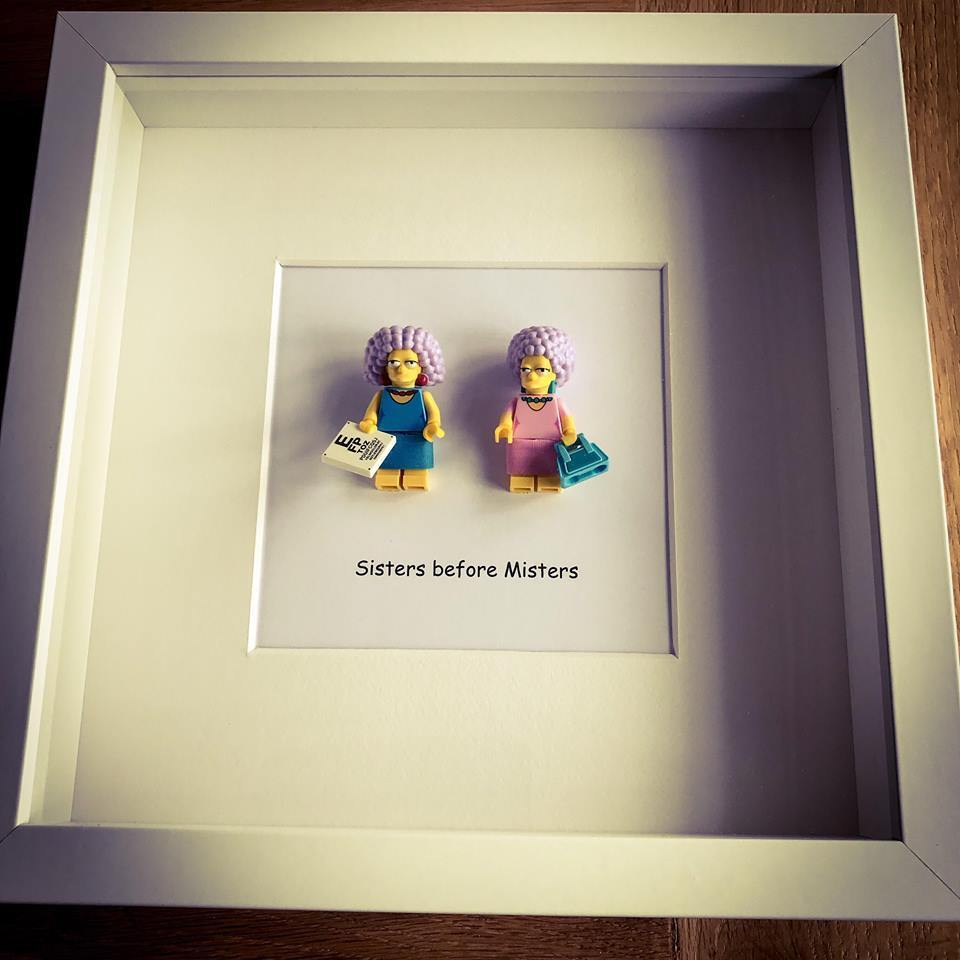Lego Patty and Selma -The Simpsons mini figure sister quote picture