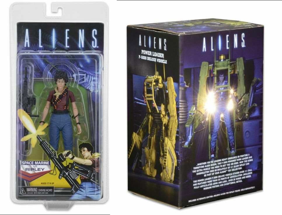 Aliens Ripley Ripley Ripley + Mini Comic Kenner tribute exclusive + powerloader Neca Figure 66af8f