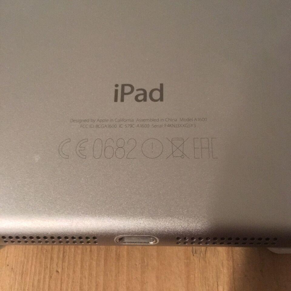 iPad mini 3, 64 GB, sort