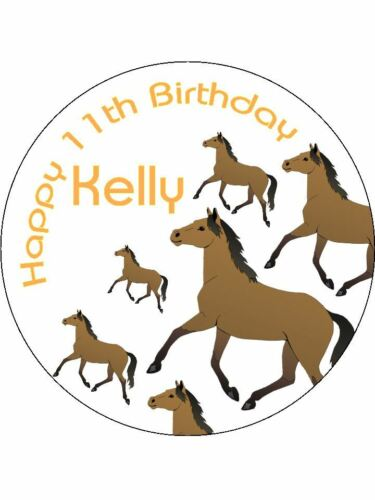 Horse jockey Rider Cute Personalised Stickers 24 x 45 mm Birthday Party Poison 54