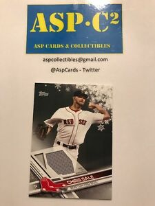 2017 Topps Baseball Walmart Holiday Chris Sale Game Used Relic Red Sox Ebay