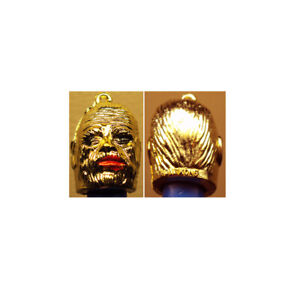 1960-039-s-Mummy-Monster-Vending-Pencil-Topper-Charm-1st-Issue-Gold-Vacuum-Plated